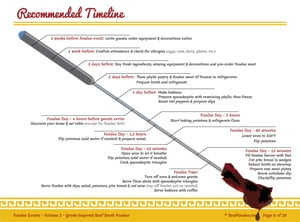 timeline for fondue event